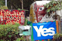Faslane Peace Camp am 18.9.2014. Foto: Faslane Peace Camp